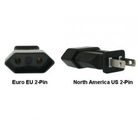 image else for Euro Eu To Us 2-pin Power Plug Adapter PA-1122