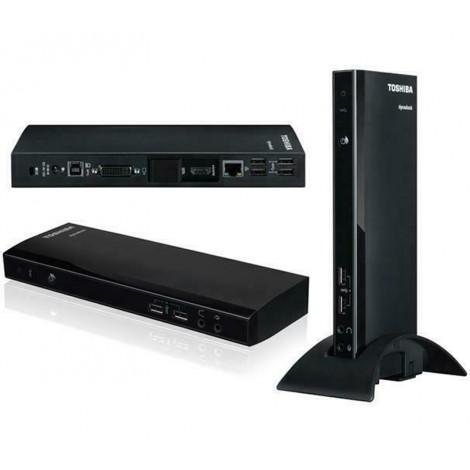 image else for Toshiba Dynadock 4K Universal Docking Station, USB3.0, HDMI, DisplayPort, Gigabit Lan, DVI-I, Mic, Dual Display PA5217A-1PRP PA5217A-1PRP