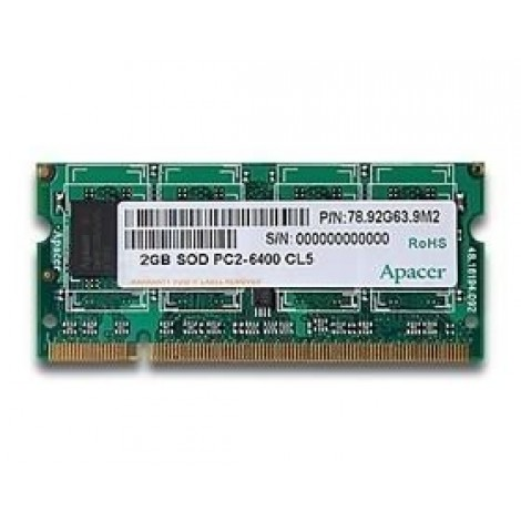 image else for Apacer Ddr2 Sodimm Pc5300-2gb 667mhz 128x8 Cl5 Retail Pack CS.02G2A.F0M