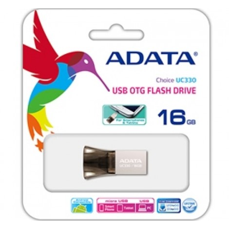 image else for Adata Choice Uc330 16gb Usb Otg Flash Drive, Dual Head Usb Flash Drive, Direct From Mobile To Pc AUC330-16G-RBK