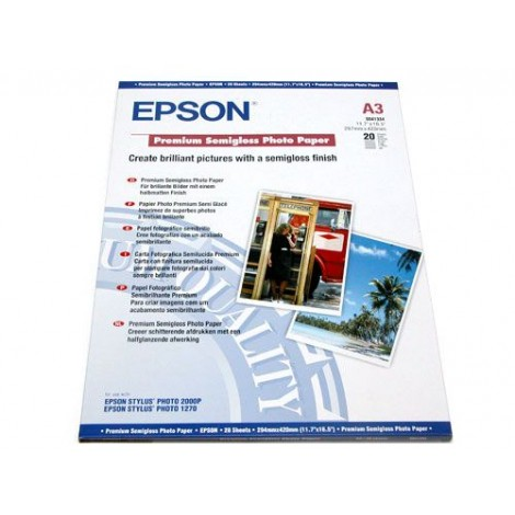 image else for Epson S041334 A3 Semigloss Photo Paper 20 Sheets C13S041334