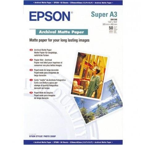 image else for Epson S041340 A3+ 329x483mm Archival Matte Paper 50 Sheets C13S041340