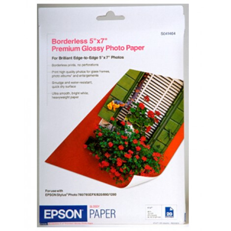 image else for Epson S041464 5 X 7 Inch Premium Glossy Photo Paper 20 Pack C13S041464