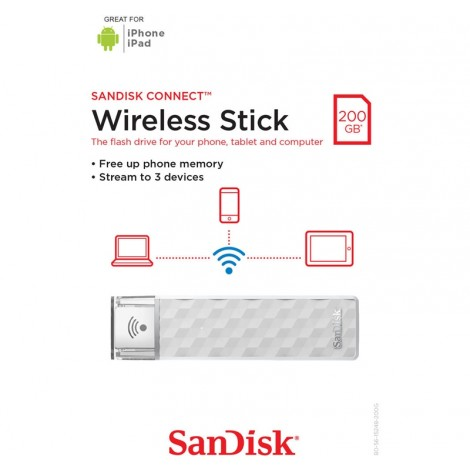 image else for SanDisk 200GB Connect Wireless Stick Flash Drive SDWS4-200G-G46 SDWS4-200G-G46