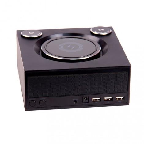 image else for Laser Qi Wireless Charging Alarm Clock With Bluetooth Speaker Spk-qc002 SPK-QC002