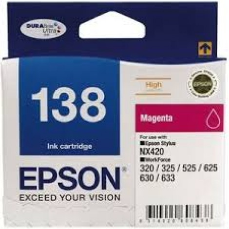 image else for Epson T138392 High Capacity Meganta Ink For Nx420, Workforce 60, 320, 325~ C13T138392