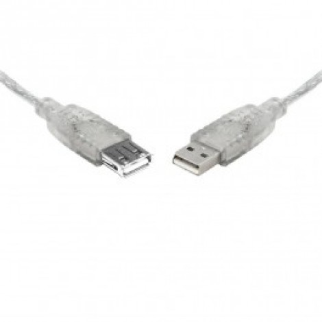 image else for Teamforce Usb 2.0 Extension A-a M-f Transparent Metal Sheath Cable 25cm Uc-2000aae UC-2000AAE