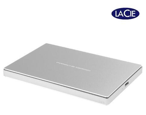 LaCie 1TB Porsche Design USB-C Portable External Hard Drive Silver STFD1000400