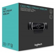 Logitech C922 Pro Stream Webcam 960-001090 Full HD Streaming Webcam, Tripod, Auto Focus, 78 Degree Field of View
