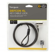 Targus Defcon KL Laptop Cable Lock, 1.8m Vinyl Coated Security Cable With 2 Keys ASP48AU