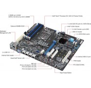 Asus P10S-E/ 4L E3 Server Motherboard - Intel C236 Chipset - Socket H4 Lga-1151 P10S-E-4L