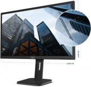 """Aoc 27"""" Ips 5Ms 2560X1440 Business Monitor W/ Has - Dp/ Hdmi/ Dvi/ Vga Speaker Vesa100Mm Height"""
