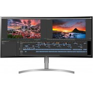 """Lg 38"""" Ips 1ms 21:9 3840x1600 Hdr10 Freesync Curved 3-side Borderless Monitor W/ Has - Dp/ 2xhdmi"""