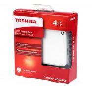 Toshiba 4TB Canvio Advance Portable USB 3.0 Hard Drive White 3 Years Warranty HDTC940AW3CA