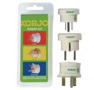 Korjo Adaptor Set, Set of 3 Travel Adapters