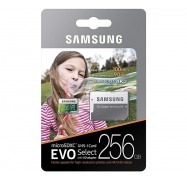 Samsung Evo Select 256GB Micro SDXC with Adapter, 100MB/s, U3, MB-ME256GA