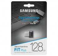 Samsung 128GB FIT Plus USB3.1 Flash Drive, up to 300 MB/s, Compact Fit, Plug in and Stay