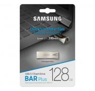 Samsung Bar Plus 128GB USB 3.1 Flash Drive 300MB/s Champagne Silver MUF-128BE3