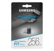 Samsung 256GB Fit Plus USB3.1 Flash Drive, up to 300 MB/s, Compact Fit, Plug in and Stay MUF-256AB/APC