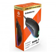 SteelSeries Rival 3 RGB Gaming Mouse SS-62513, TrueMove Core Optical Sensor, 6 Programmable Buttons