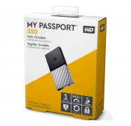 Western Digital WD 1TB My Passport SSD Portable USB Type-C 3.1 Black-Gray WDBKVX0010PSL-WESN