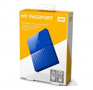 Western Digital 4TB My Passport Portable Hard Drive USB3.0 Blue WDBYFT0040BBL-WESN