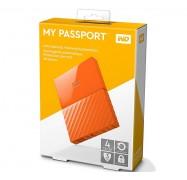 Western Digital 4TB My Passport Portable Hard Drive USB3.0 Orange WDBYFT0040BOR-WESN