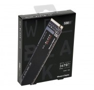 Western Digital 500GB WD Black SN750 M.2 PCIe NVMe SSD Drive WDS500G3X0C, Up to 3430MB/s
