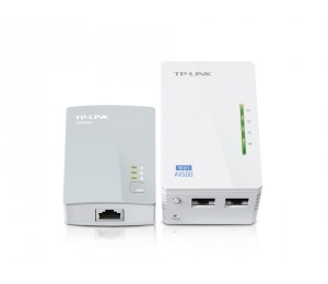 TP-Link TL-WPA4220KIT: 300Mbps AV500 WiFi Powerline Extender Starter Kit TL-WPA4220KIT