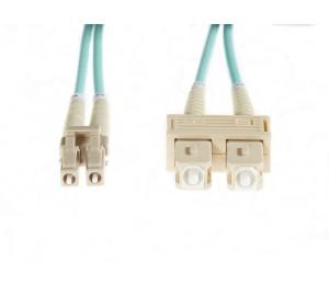4cabling 30m LC-SC OM3 Multimode Fibre Optic Cable: Aqua FL.OM3LCSC30M
