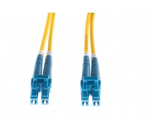 4cabling 2m LC-LC OS1/ OS2 Singlemode Fibre Optic Cable: Yellow FL.OS1LCLC2M
