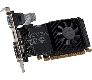 Evga Low Profile Evga Gt730 1gb Gd5 Pci-e Vga Hdmi Dvi-i With Heatsink+fan. Retail Pack Uefi