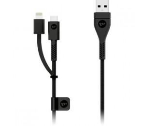 Mophie Pro Switch-Tip Lightning 1.2M Black 3609_Pro-2N1-Ltg-1.2M-Blk