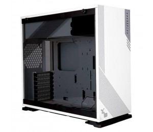 In Win 103Rgb White Gaming Atx Tower Side Tempered Glass Support Up To 420Mm Radiator Neon Highlighted