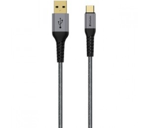 Verbatim Type C To A Cable With Kevlar 120Cm Grey (65989)