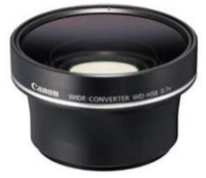 Canon Wdh58 Wide Angle Lens Convertor For Hfs10 Wdh58
