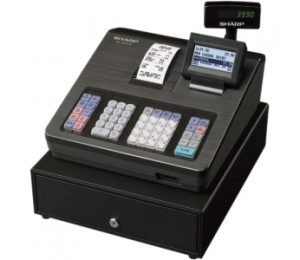 Sharp Xea207b Cash Register With Raised Keyboard/ Black. Built-in Sd Card Slot For Easy Sales Data