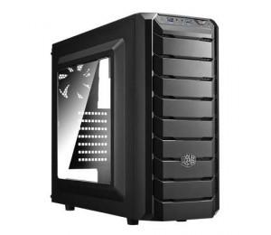 Coolermaster Mid Tower: Cmp 500 Mid Tower (side Window Atx 1x Usb3.0 1x Usb2.0) + Elite V3 600w
