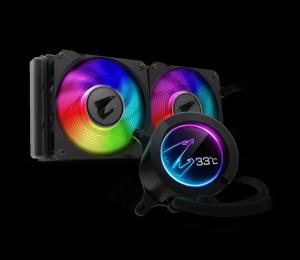 Aorus Cpu Liquid Cooler 240 W/Lcd Display Intel/Amd Socket 2 X 120Mm Rgb Fans 3Yr Wty Gp-Aorus-Liquid-Cooler-24