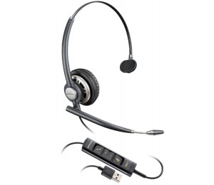 PLANTRONICS ENCOREPRO HW715 MONAURAL USB PC HEADSET W/ INLINE CONTROLS 203476-01