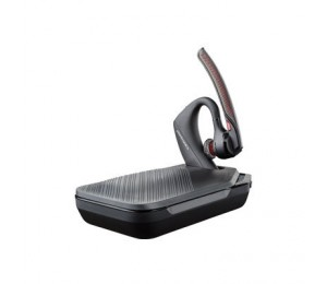 Plantronics Voyager 5200 Uc Over The Ear Bluetooth Headset W/ Charge Case & Uc Dongle 206110-101