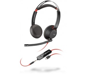 Plantronics Blackwire C5210 Monaural Uc Usb Headset W/ 3.5Mm 207577-01