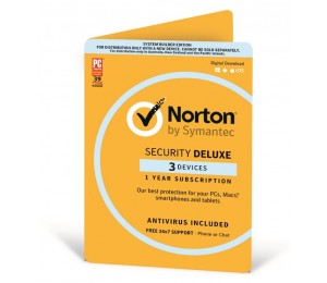 Symantec Norton Security Deluxe 3.0 Au 1 Year 3 Device Antivirus Included Digital Download Oem