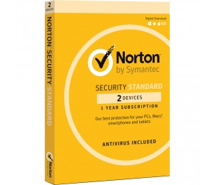 SYMANTEC NORTON SECURITY STANDARD 3.0 AU 1 USER 2 DEVICE 12MONTH SPECIAL CARD MM SML 21369607