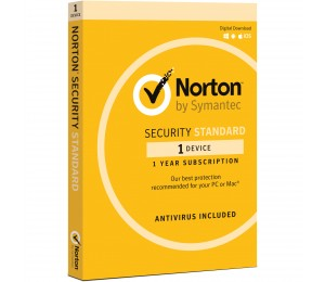 SYMANTEC NORTON SECURITY STANDARD 3.0 AU 1 USER 1 DEVICE 12MONTH SPECIAL CARD MM SML 21369638