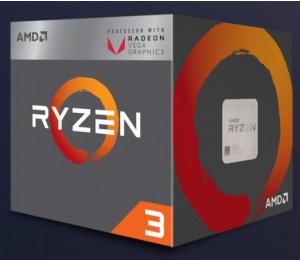 AMD Processor: Raven Ridge Socket AM4, Quad Core, up to 3.70GHz, 6MB Cache, 65W, Built in Radeo