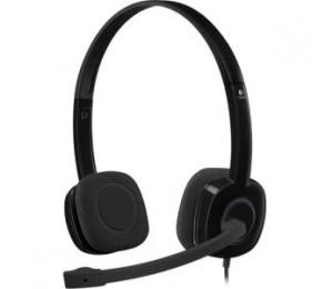 Logitech H151 Single-pin Stereo Headset - Black 981-000587
