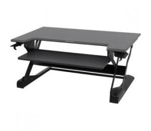 ERGOTRON WORKFIT TL BLACK SIT STAND TABLETOP + WORKFIT DUAL MONITOR KIT WHITE 33-406-085 + 97-934-062