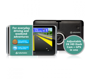 Navman Drive Duo Suv - Gps Crash Cam Combo 6in Lcd Touch Screen Anz Maps Lifetime Monthly Maps