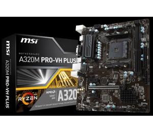 MSI A320M PRO-VH PLUS AMD M-ATX MOTHERBOARD PRO AM4 2XDDR4 1XM.2 4XSATAIII USB3.0X 6 USB2.0X 6